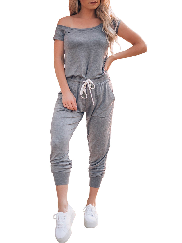 Waist Beam Foot Jumpsuit - FLJ CORPORATIONS
