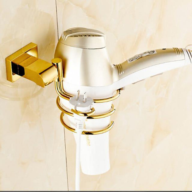 Hair Dryers Contemporary Brass 1 pc - Hotel bath
