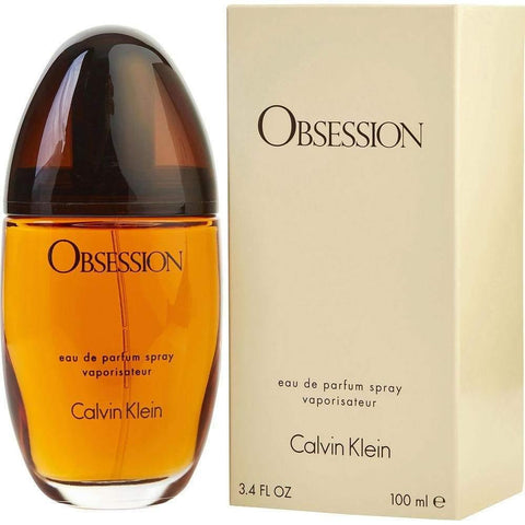 ($92 Value) Calvin Klein Obsession Eau De Parfum Spray, Perfume For Women, 3.4 Oz