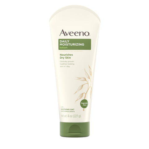 Aveeno Daily Moisturizing Lotion with Oat for Dry Skin, 8 fl. oz - FLJ CORPORATIONS