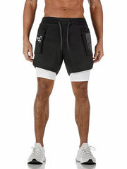 Men's Sporty Loose Shorts Pants Camouflage White Black US32 / UK32 / EU40 US34 / UK34 / EU42 US36 / UK36 / EU44