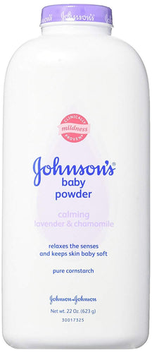 Johnson's Baby Powder with Naturally Derived Cornstarch, Lavender, 22 oz - FLJ CORPORATIONS
