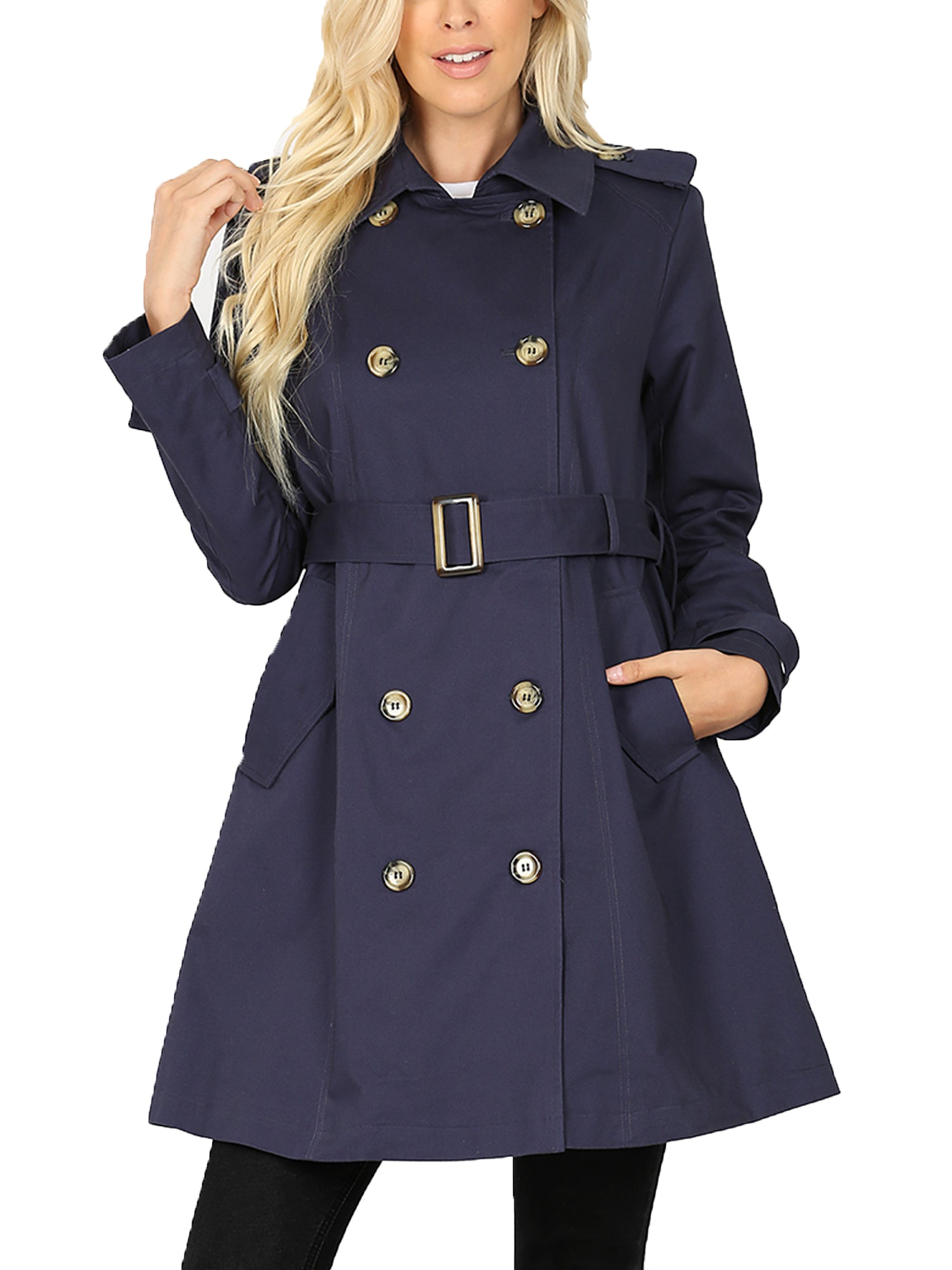 Womens  Trench Coat Jacket - FLJ CORPORATIONS