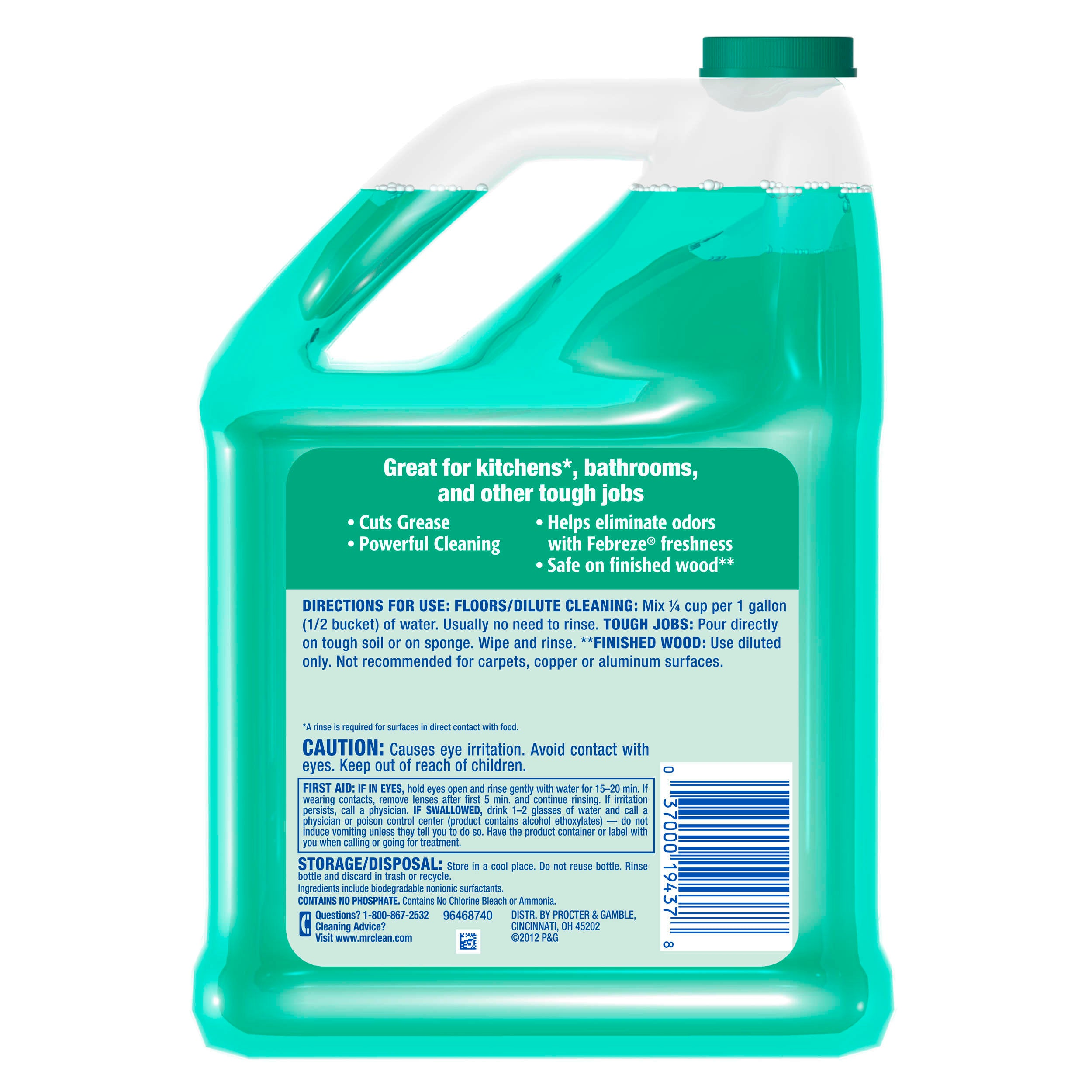 Mr. Clean Liquid All Purpose Cleaner, Meadows and Rain, 128 fl oz - FLJ CORPORATIONS