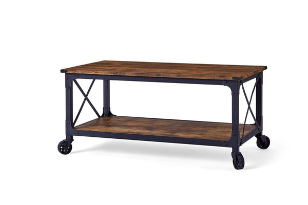 Better Homes & Gardens Rustic Country Coffee Table, Weathered Pine Finish - FLJ CORPORATIONS