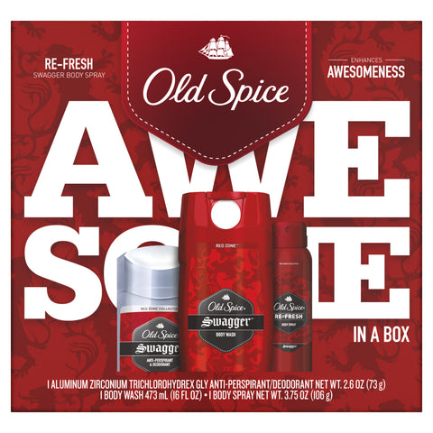 Old Spice Swagger Antiperspirant and Deodorant + Body Wash + Body Spray, Gift Pack - FLJ CORPORATIONS