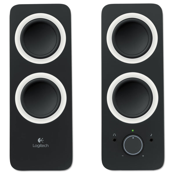 Logitech Z200 Multimedia 2.0 Stereo Speakers, Black - FLJ CORPORATIONS
