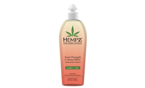 Hempz Sweet Pineapple & Honey Melon Hydrating Bath & Body Oil- 6.76 oz. - FLJ CORPORATIONS