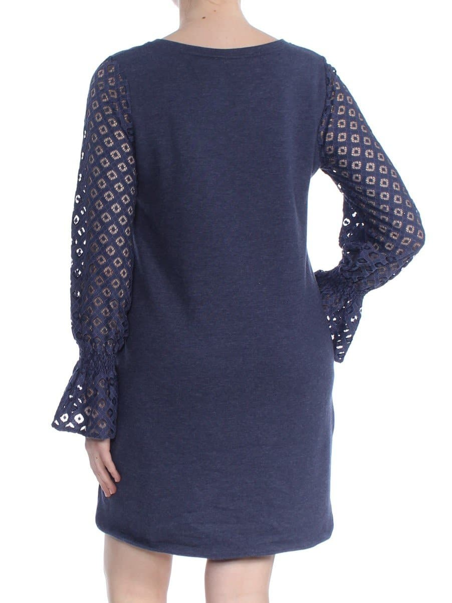 Navy Lace Long Sleeve Jumpsuit - FLJ CORPORATIONS