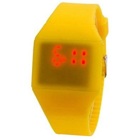 G1206 LED Watch With Touch Screen Ultra-slim Plastic - YellowOriginal text
