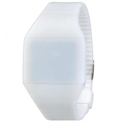G1206 Waterproof LED Watch With Touch Screen Slim Plastic Case Strap - WhiteOriginal text