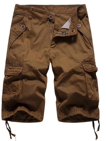 Men's Basic Cargo Pants - Solid Colored Army Green Khaki Light gray M / L / XL