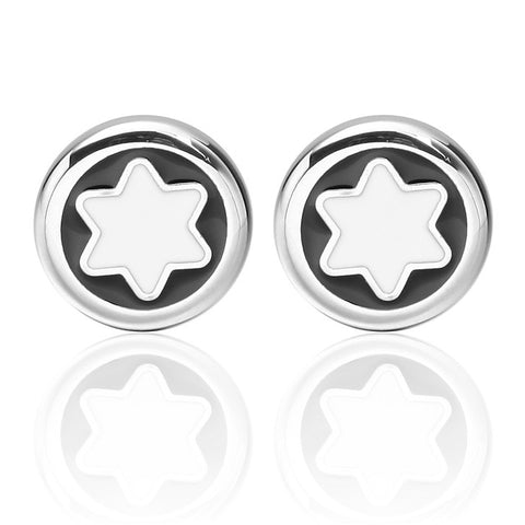 Cufflinks Snowflake Universal Fashion Brooch Jewelry Silver For Daily Formal