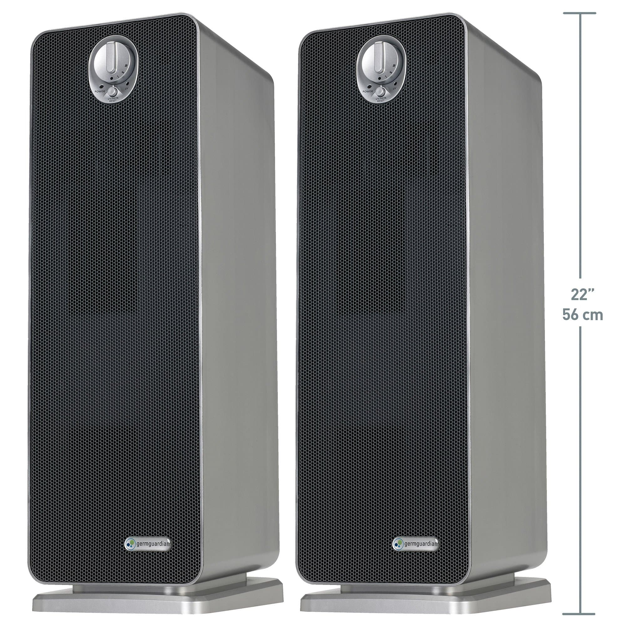 "GermGuardian 22"" True HEPA Air Purifier, with UV Sanitizer & Odor Reduction, 2-pack - FLJ CORPORATIONS"