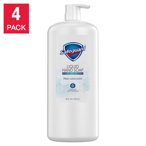 Safeguard Liquid Hand Soap 40 fl oz, 4-pack - FLJ CORPORATIONS