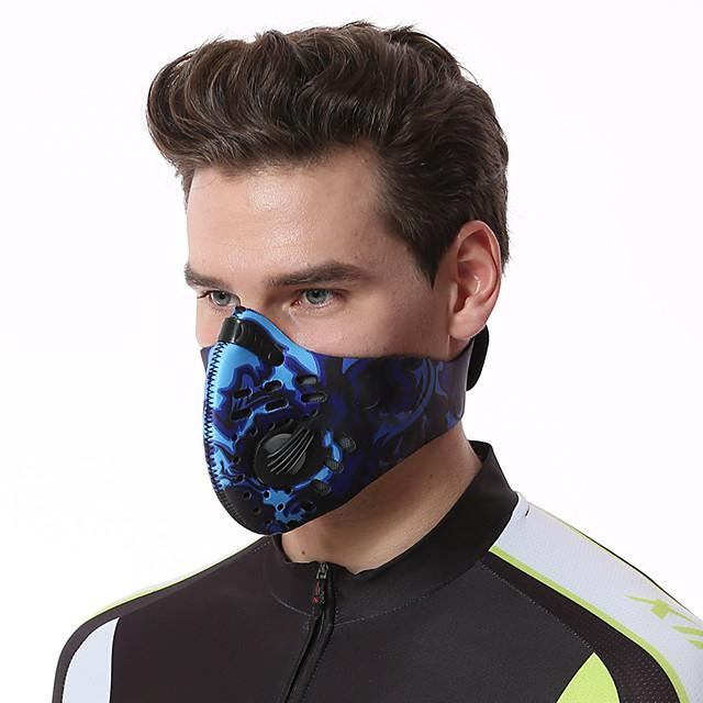 XINTOWN Sports Mask Pollution Protection Mask Half Face Mask with Filter Neoprene Adjustable Waterproof Windproof Breathable Anti-Fog Bike / Cycling Red Orange Blue Activated Carbon Winter Velcro for - FLJ CORPORATIONS