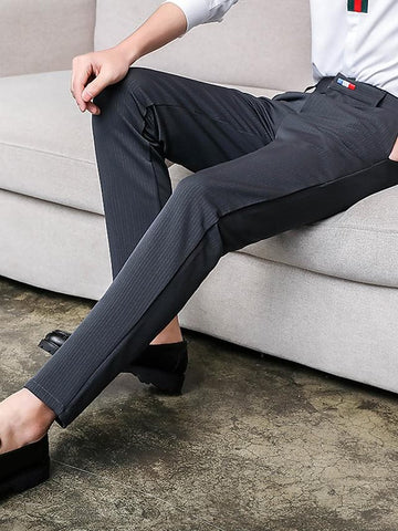 Men's Basic Dress Pants Chinos Pants - Solid Colored Black Navy Blue Gray 29 / 30 / 31 - FLJ CORPORATIONS