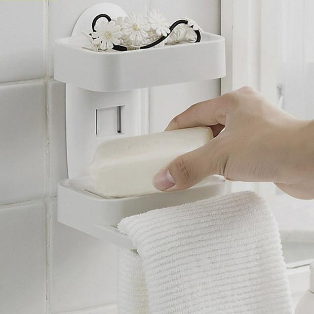 Soap Dishes & Holders Creative / Multifunction Contemporary PVC(PolyVinyl Chloride) 1pc Wall Mounted