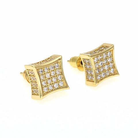 Men's Cubic Zirconia Stud Earrings Stylish Creative Precious Stylish European Trendy Rhinestone Earrings Jewelry Gold / Silver For Wedding Masquerade Engagement Party Prom Holiday Going out 1