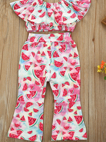 Baby Girls' Basic Fruit Short Sleeve Regular Clothing Set Blushing Pink