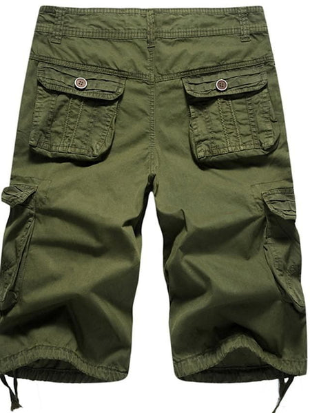 Men's Basic Cargo Pants - Solid Colored Army Green Khaki Light gray M / L / XL - FLJ CORPORATIONS
