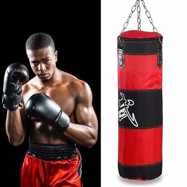 Punching Bag Heavy Bag Kit With Hanger Boxing Gloves Removable Chain Strap Punching Bag 1039 Taekwondo Boxing Karate Martial Arts Muay Thai Adjustable Durable Empty Strength Training 5 pcs Red - FLJ CORPORATIONS