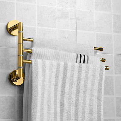 Towel Bar Modern Brass 1 pc - Hotel bath 3-towel bar