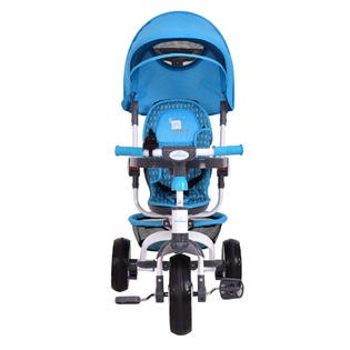 Safeplus 4-In-1 Kids Baby Stroller Tricycle Detachable Learning Toy Bike w/ Canopy Basket