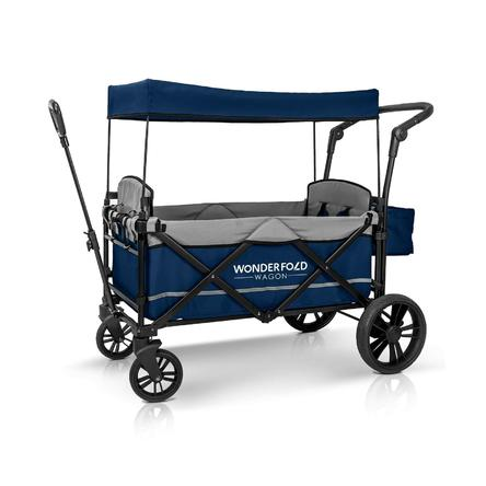 WonderFold Baby XL 2 Passenger Push Pull Twin Double Stroller Wagon