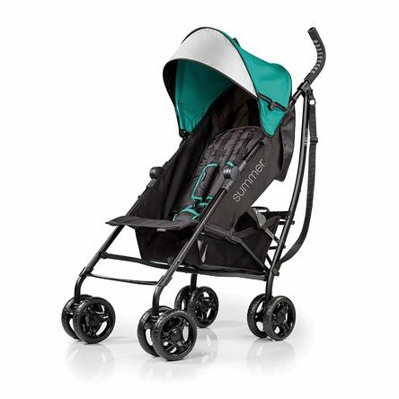 Summer Infant Summer 3Dlite Convenience Stroller, Teal ? Lightweight Stroller with Aluminum