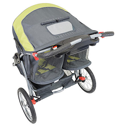 Baby Trend Expedition Double Jogger Stroller, Carbon
