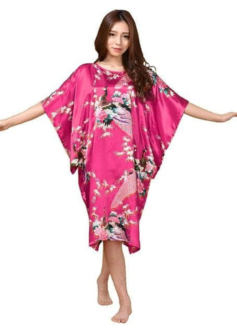 Plus Size Summer Women's Faux Silk Nigh Robe - FLJ CORPORATIONS