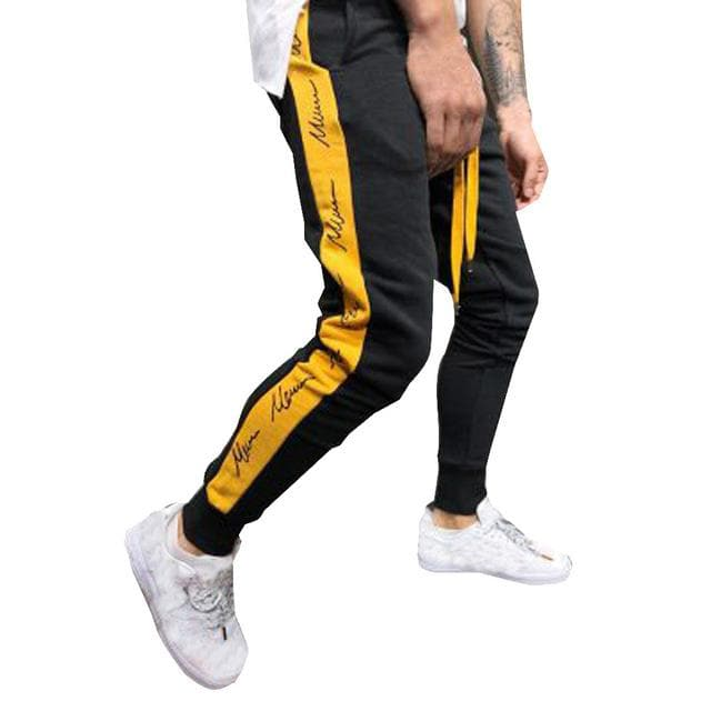 New Mens Pants Autumn Winter Joggers Patchwork Casual Drawstring Sweatpants Trouser Pants Comfortable Fashion Men Trousers Pants - FLJ CORPORATIONS