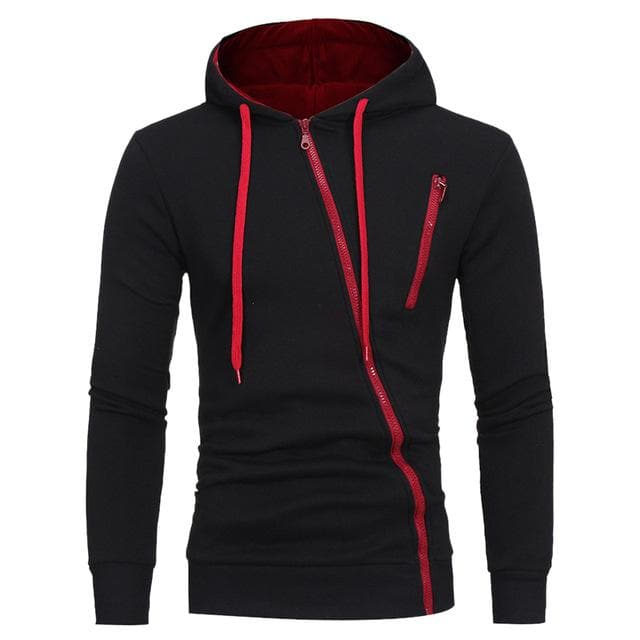 Men Sports Casual Wear Zipper Fashion Tide Jacquard Hoodies - FLJ CORPORATIONS