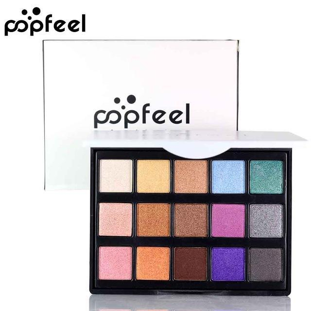 Makeup Mini Eye Palette Shimmer and Matte Color Cosmetics Pigment 15 Color - FLJ CORPORATIONS