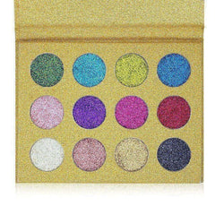 Imagic 12 Color Highly Pigmented Diamond Glitter Eye Shadow Palette Flash Shimme