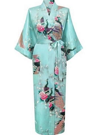 Female Silk Rayon Robes Gown Sleepwear - FLJ CORPORATIONS