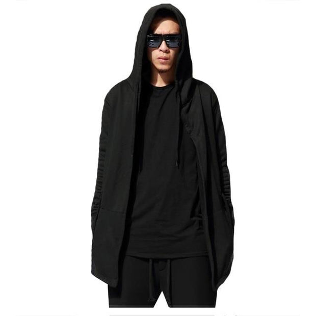 Trench Coat Loose Plus Size Long  Hooded Jacket For Men - FLJ CORPORATIONS