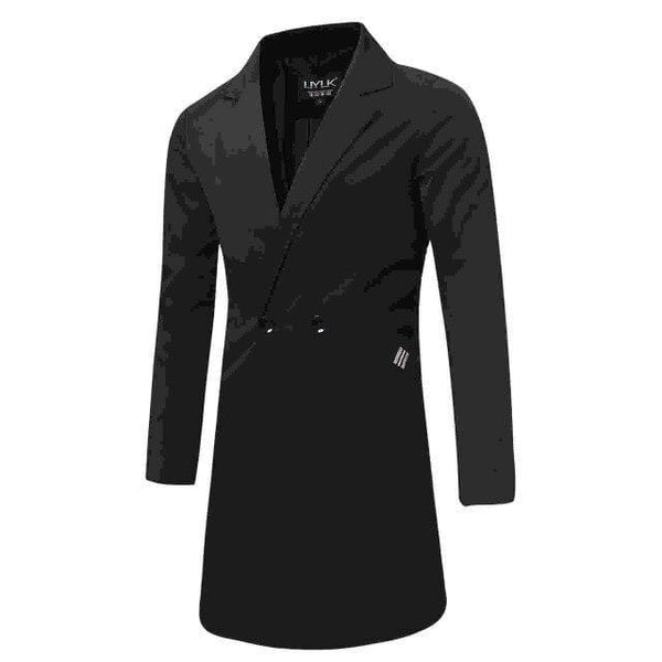 Men's Long Trench Coat Double Breasted Outwear For winter - FLJ CORPORATIONS