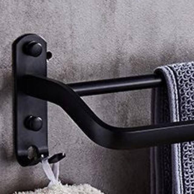 Towel Bar Premium Design / Cool Modern Stainless Steel / Iron 1pc Double Wall Mounted