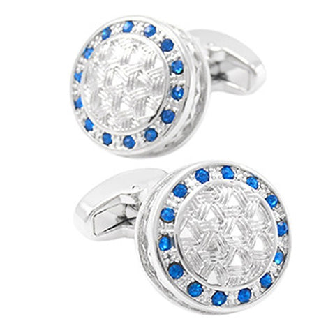 Cufflinks Casual Basic Crystal Brooch Jewelry Blue For Daily Formal