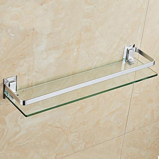 Bathroom Shelf Wall Mount Design / Cool Modern Glasses / Stainless Steel 1Set 44CM Length