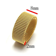 Men's Ring Rose Gold Black Gold Stainless Steel Round Stylish Punk European Gift Date Jewelry Wearable