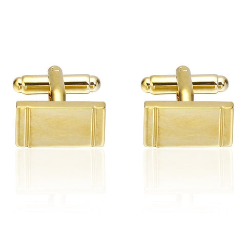 Cufflinks Basic Fashion Brooch Jewelry Golden For Daily Formal