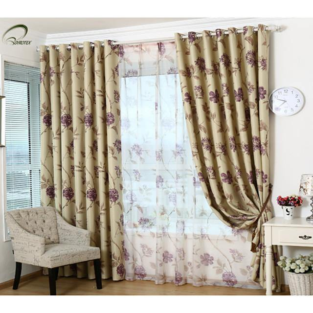 Ready Made Room Darkening Blackout Curtains Drapes One Panel / Bedroom