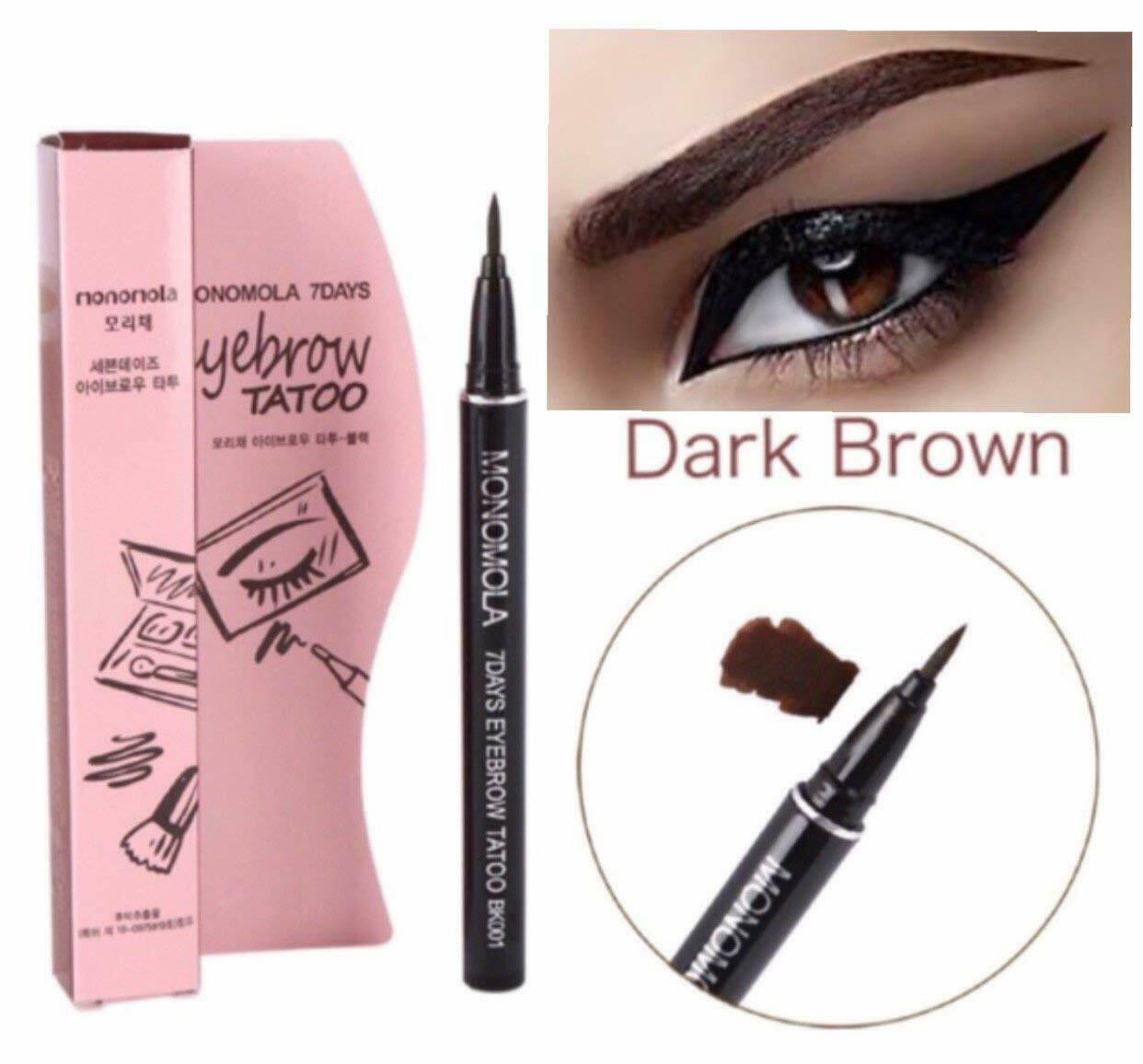 7 Days Eyebrow Tattoo Pencil Pen Liner Brown Long Lasting Eye Makeup Cosmetic US - FLJ CORPORATIONS
