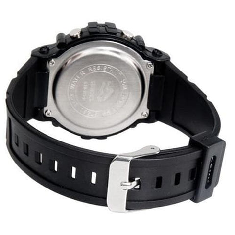 SHORS SH-353 Unisex Round LED Digital Display Water Resistant Watch M. - Silver