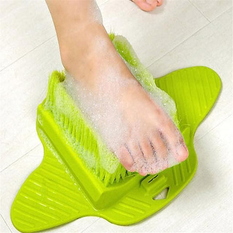 Foot Scrubber Brush Shower Skin Exfoliator Scrubber Soft and Stiff Bristles Dry Callus Scrub Soap Feet Cleaner with Floor Suction for Bathtub - FLJ CORPORATIONS