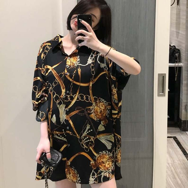 Plus size Fashion casual oversized Women sleeve Loose Tops Shirts Blusas Mujer - FLJ CORPORATIONS
