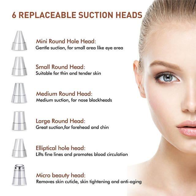 Blackhead Remover Nose T Zone Pore Vacuum Acne Pimple Removal Vacuum Suction Tool Facial Diamond Dermabrasion Machine Face Clean - FLJ CORPORATIONS